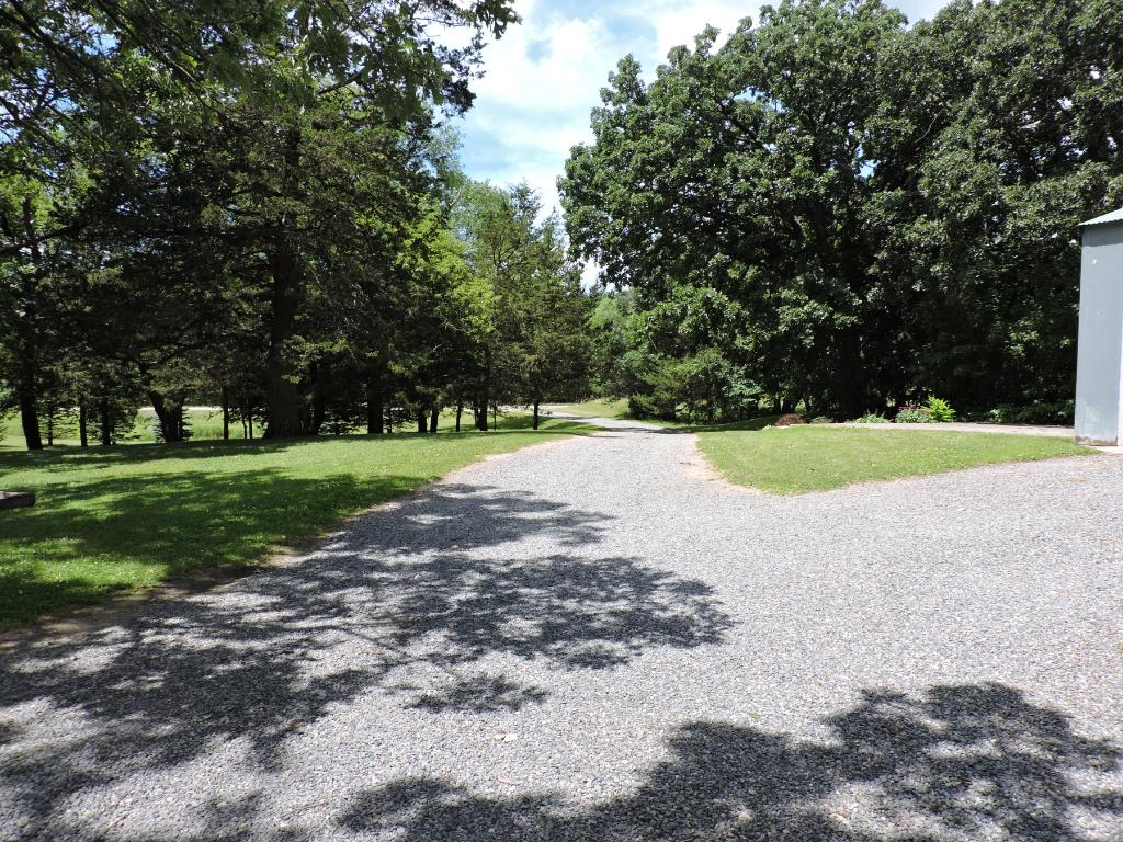 View of driveway and yard