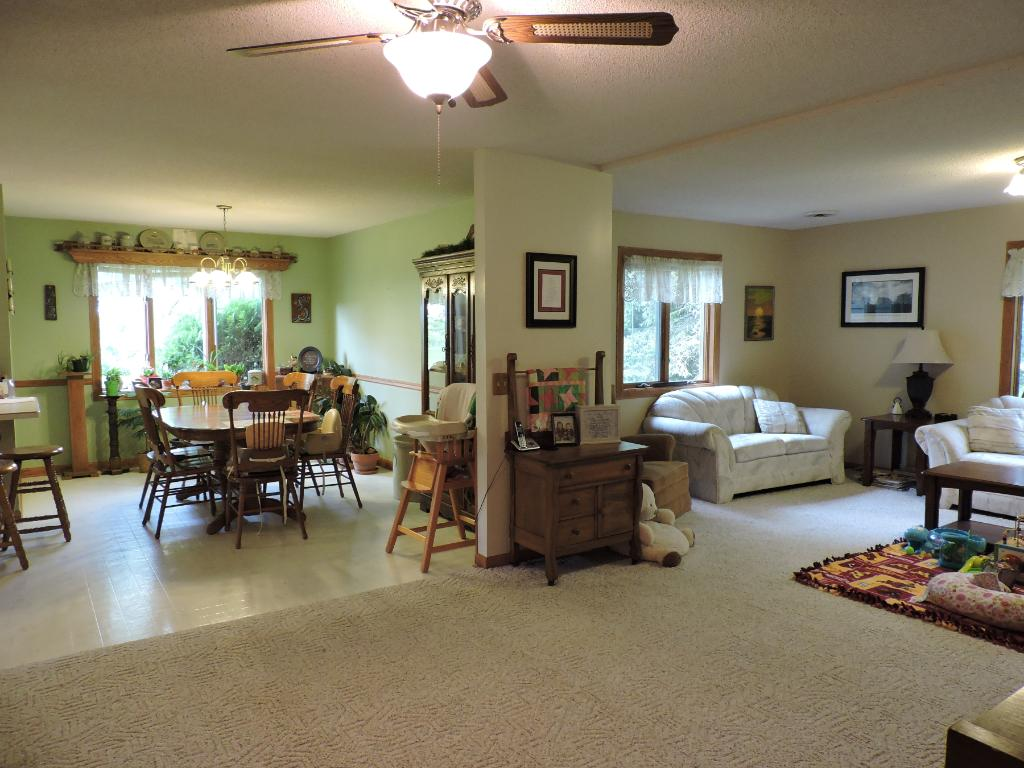 Large/open dining/living Room