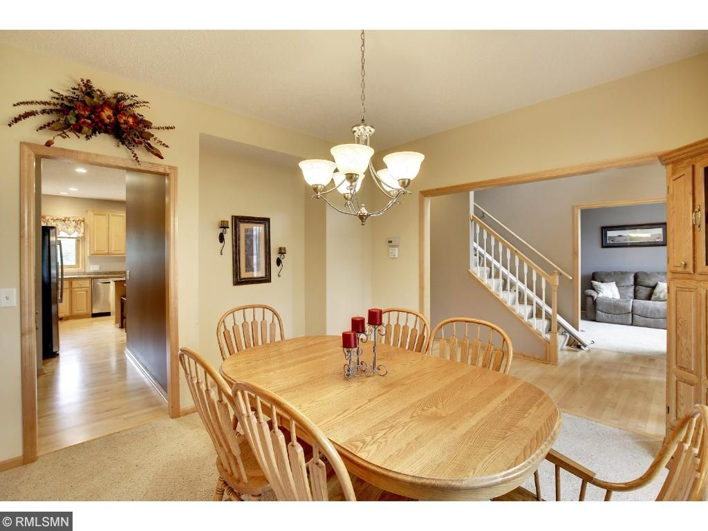 Beautiful formal dining room off kitchen and private buffet area.