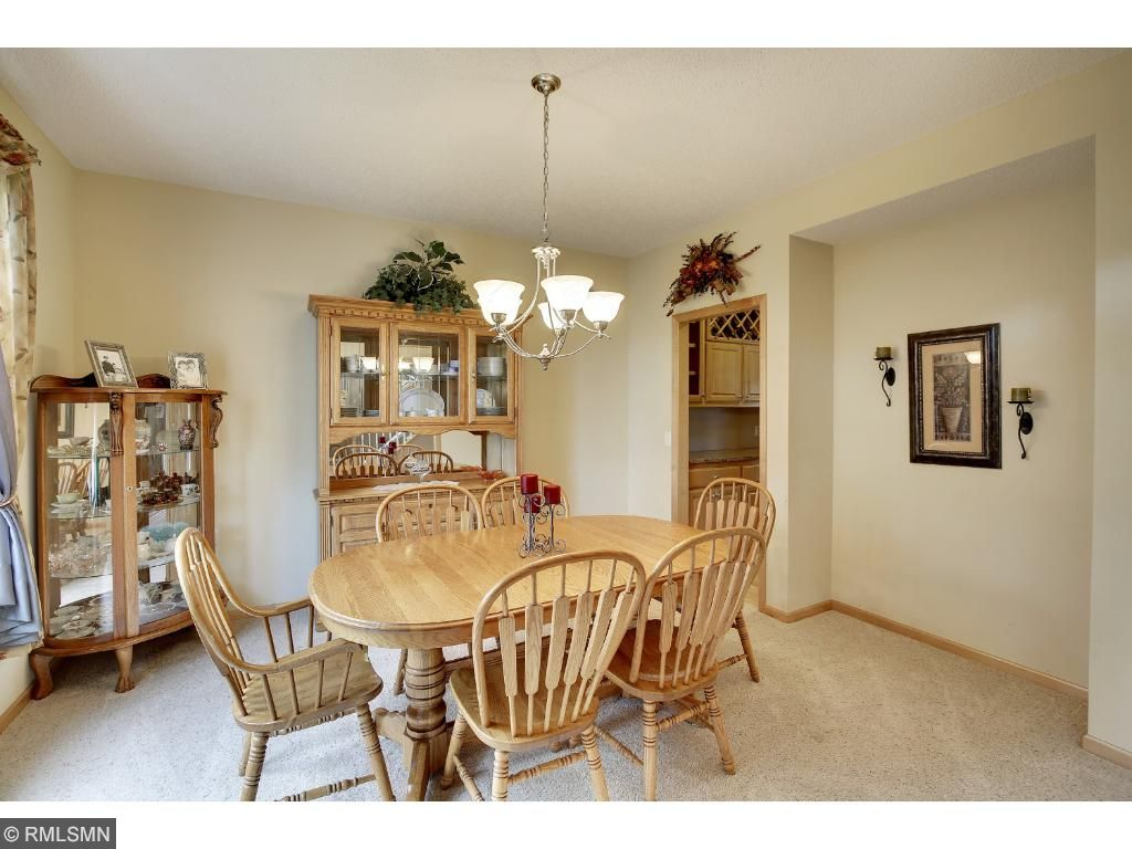 Formal dining room off foyer and buffet kitchen.