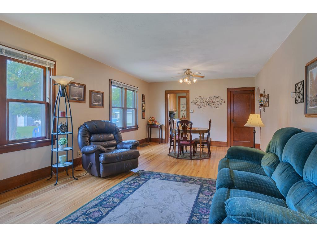 Beautiful woodwork/trim throughout the home with large windows that are dual paned.