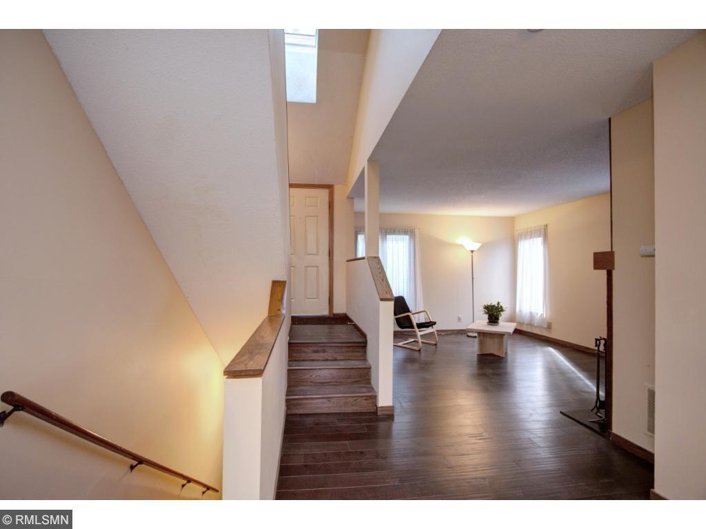 Striking dark flooring and great natural light!
