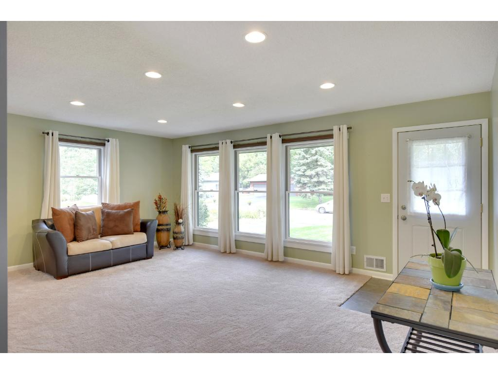 Brand new windows (Andersen Windows) inviting bright, natural light into the home.