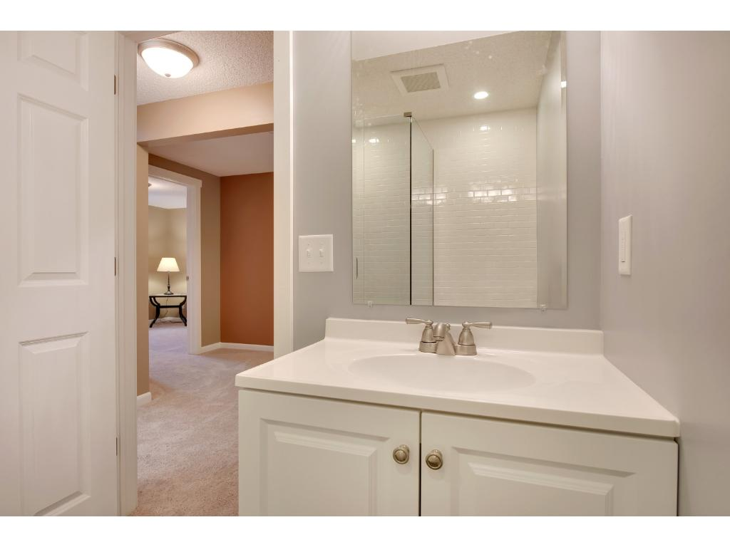 Another view of this beautiful lower level bathroom.  You will not find homes conditioned like this, at this price point!