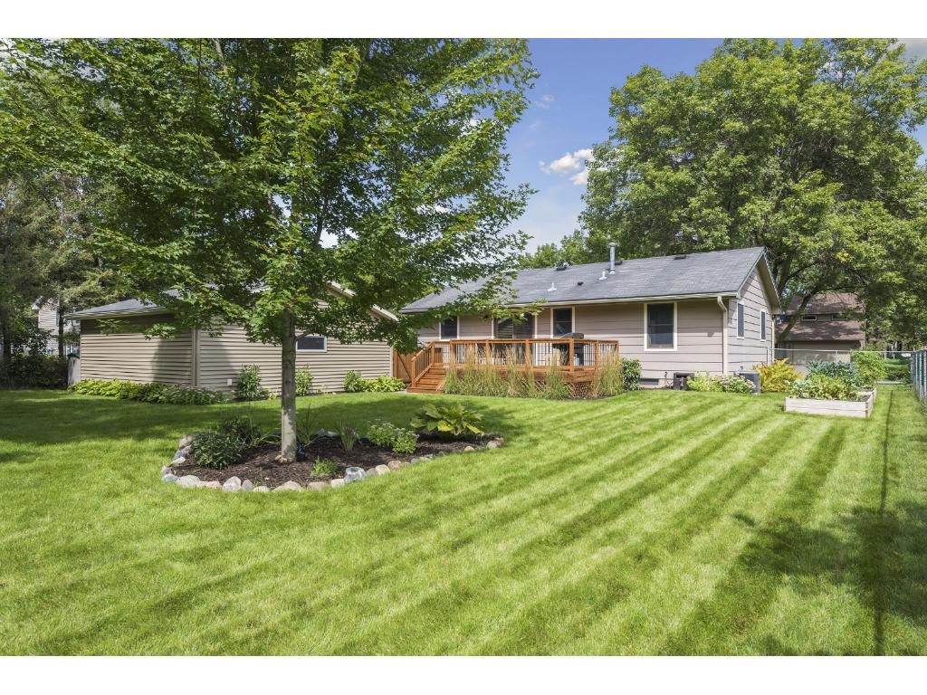 Enjoy the green space and fully fenced back yard.