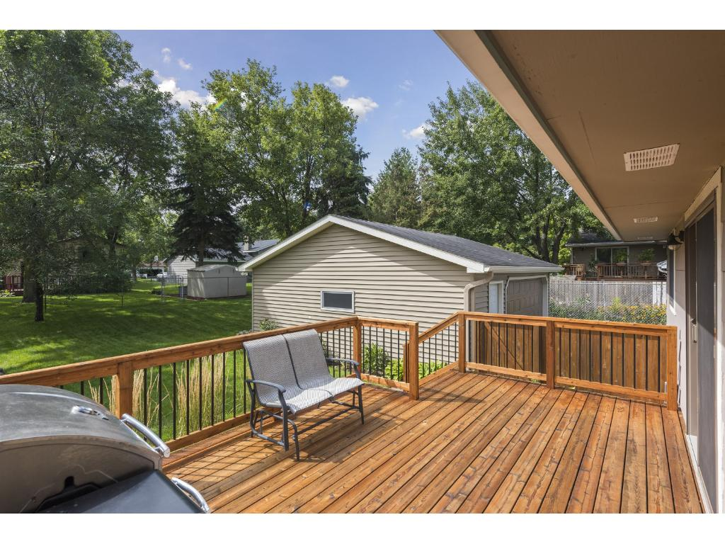 Well maintained cedar deck is great for entertaining, grilling out or maybe you prefer to just relax in the sunshine.  You get to decide!