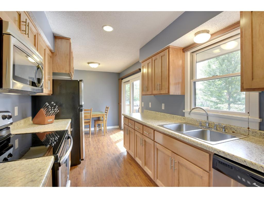 Newer cabinets and stainless steel appliances are a rare find at this price point!