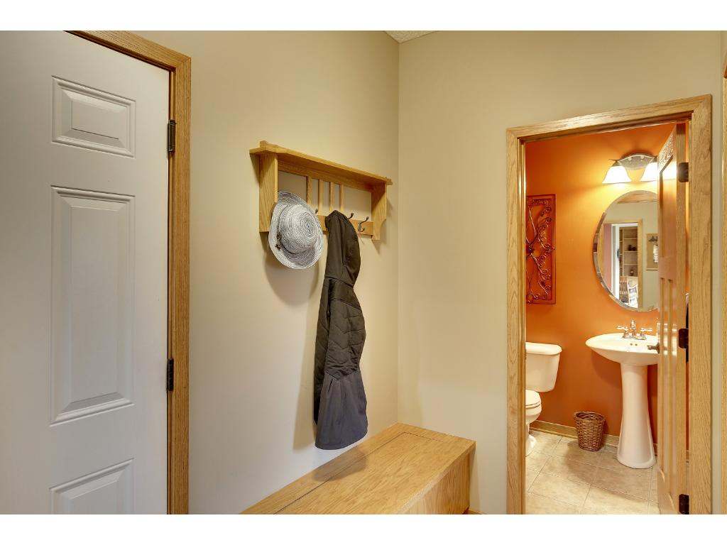 Mudroom with separate Laundry Room and Coat Closet or Pantry. Add your lockers!