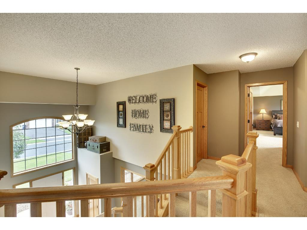 Dramatic two-story foyer for natural light throughout.