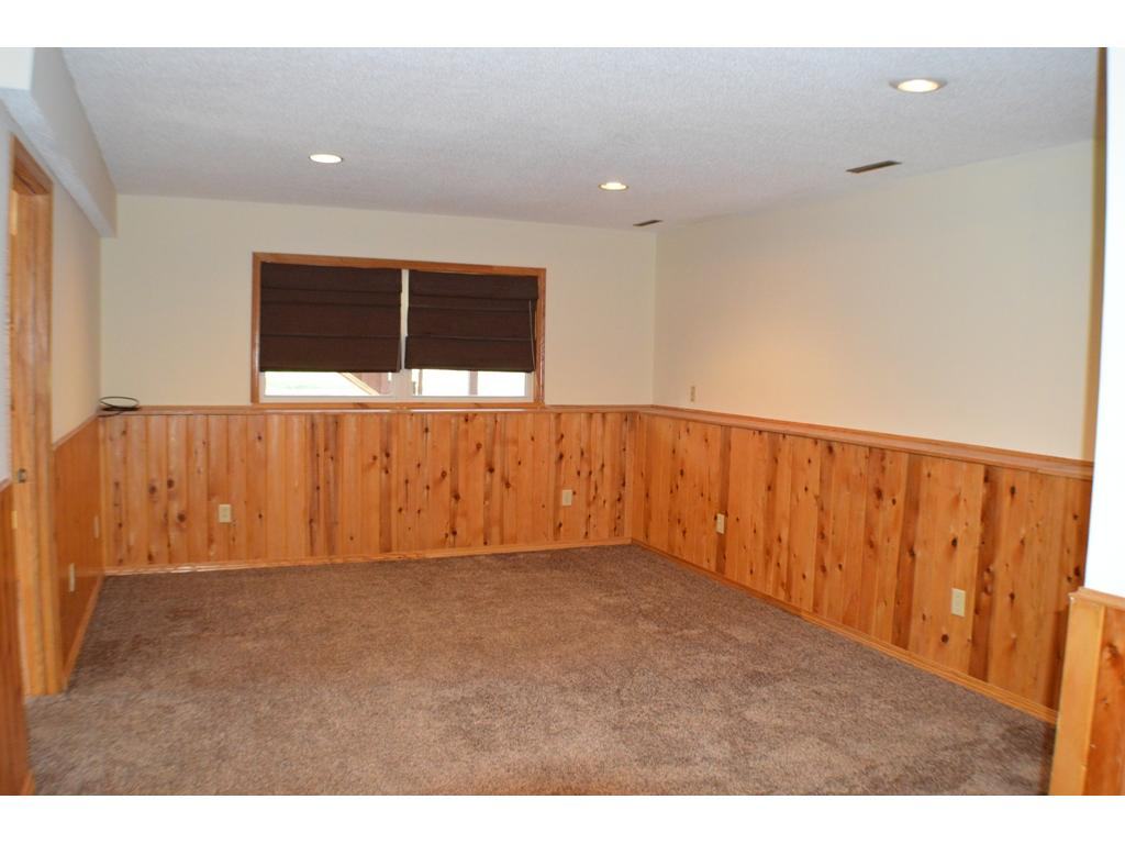 Spacious lower level family room with newer  carpet.
