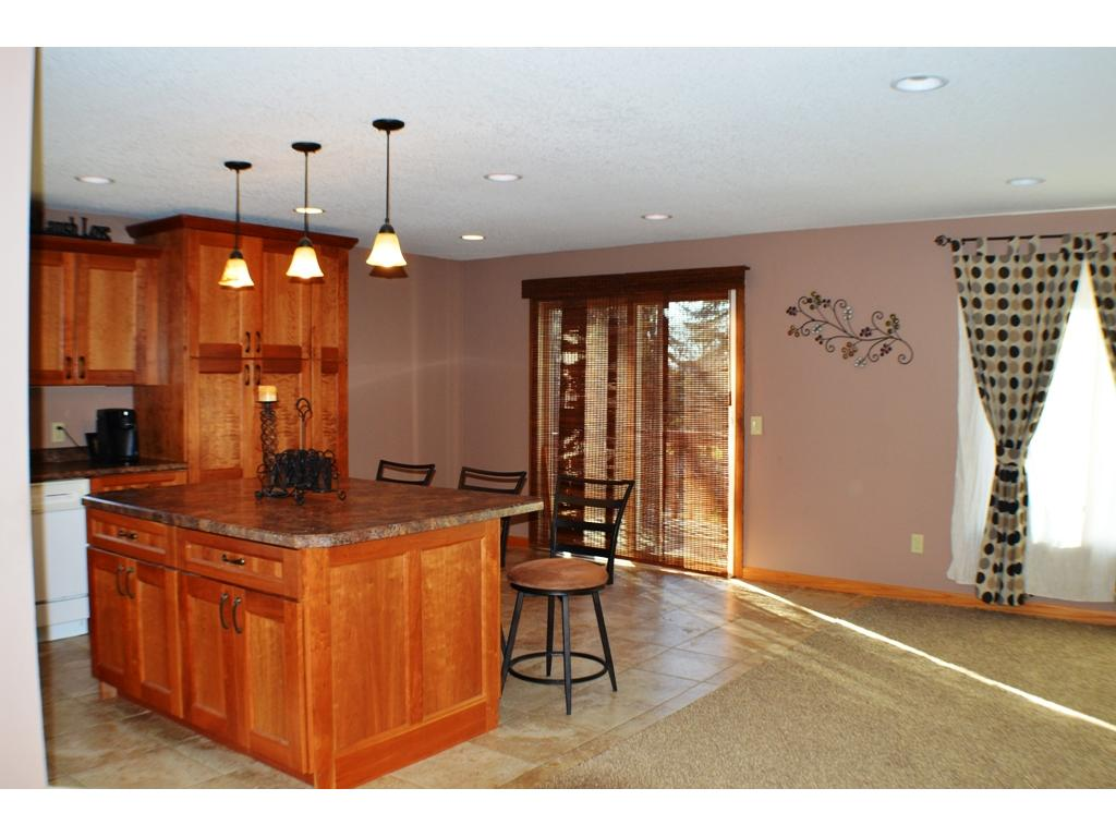Kitchen and dining are open to the living room.