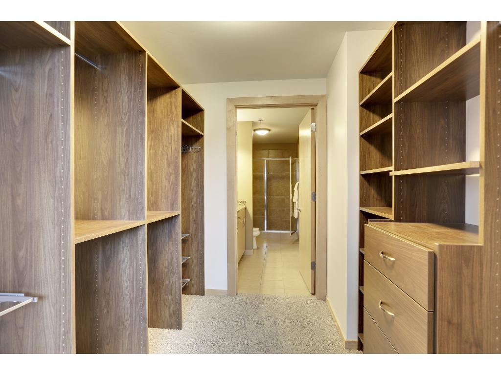 A built in master closet