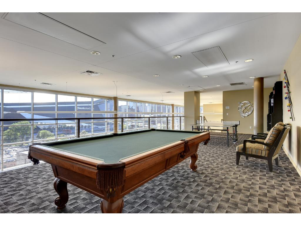 The building offers some of the best amenities in town including a large community room