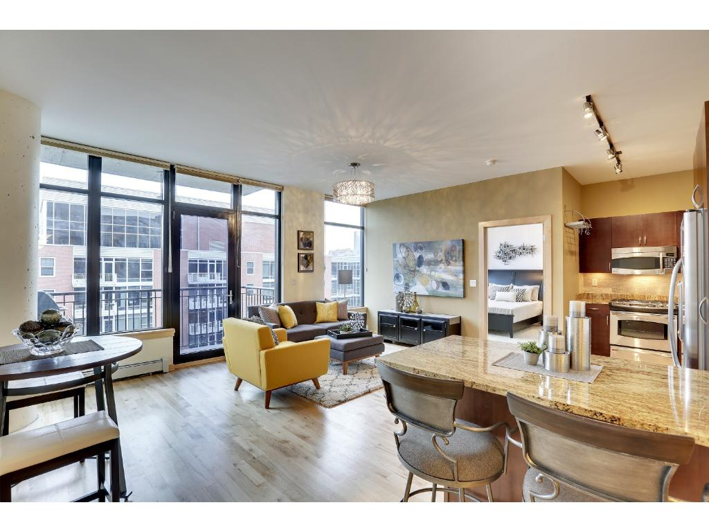 This well-appointed two bed, two bath unit features many upgrades