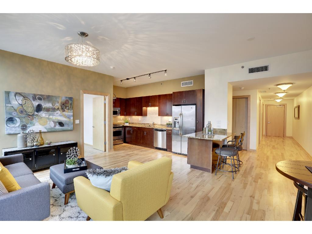 Enjoy 7th floor views and lots of natural light