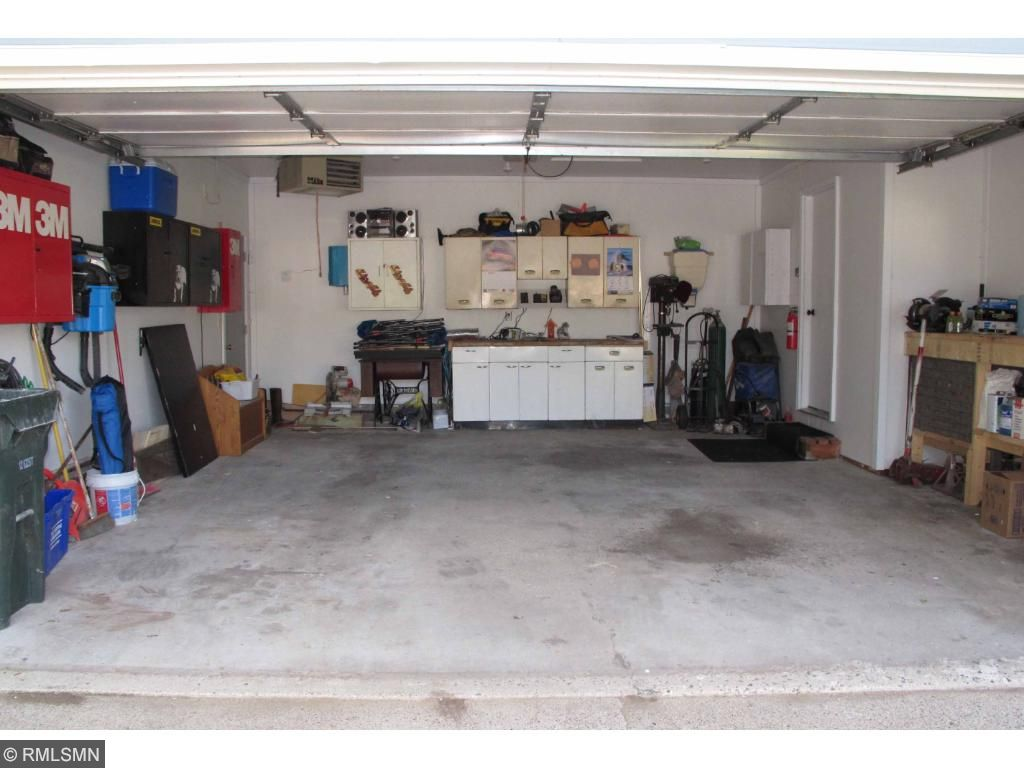 2 car insulated & heated garage.