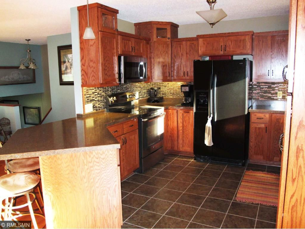Kitchen has a nice open layout with the living Room & dining area.