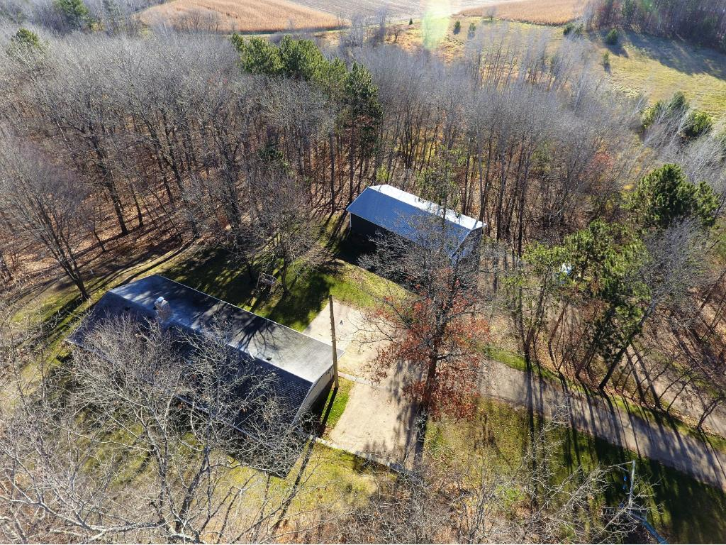 This property offers over 8 acres of privacy!