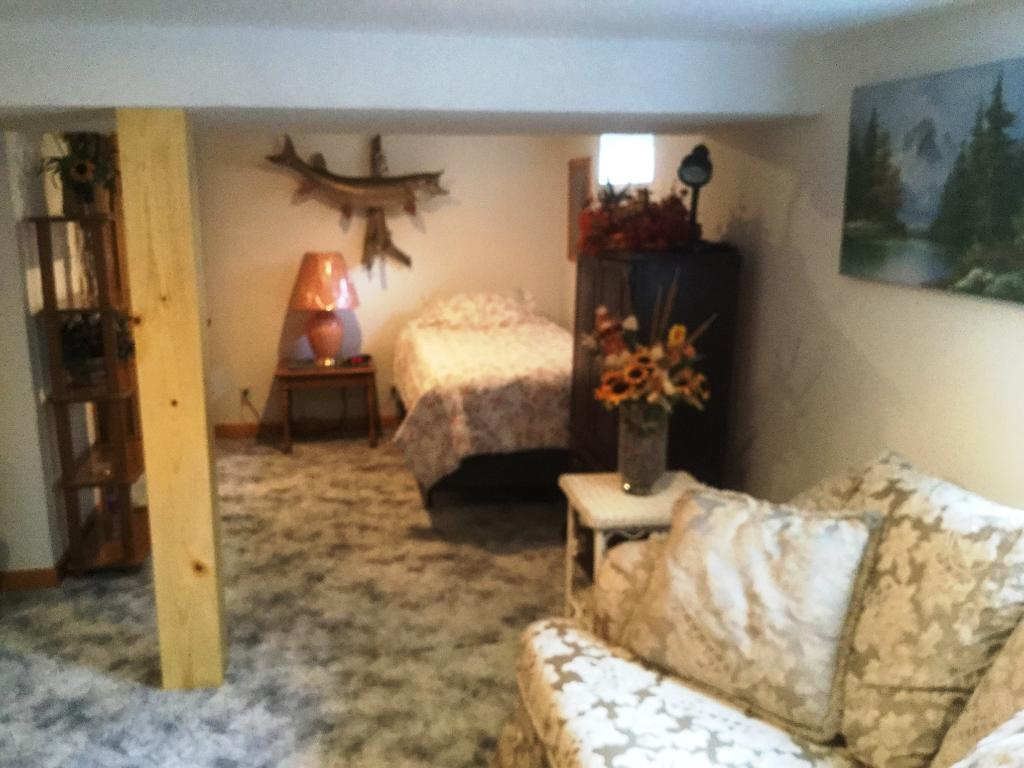 Lower level 4th bedroom with...