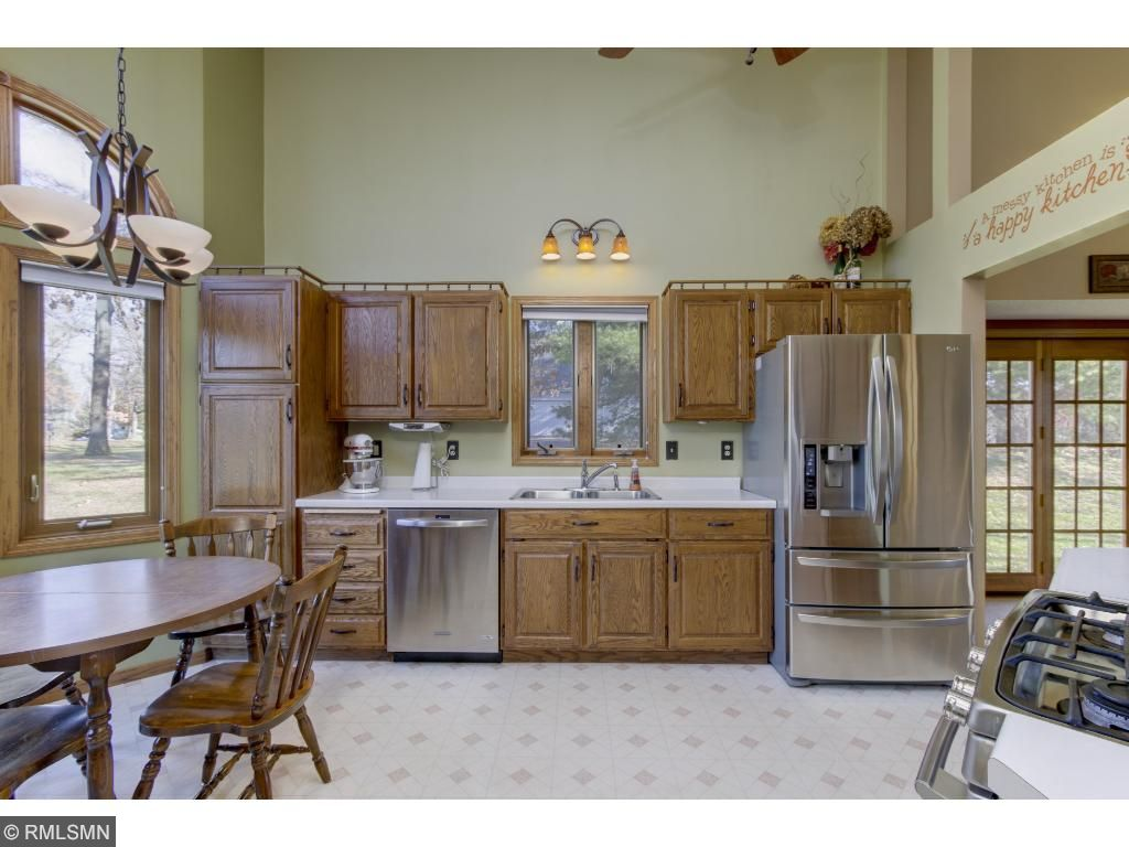 Abundance of oak cabinets to meet your storage  needs.
