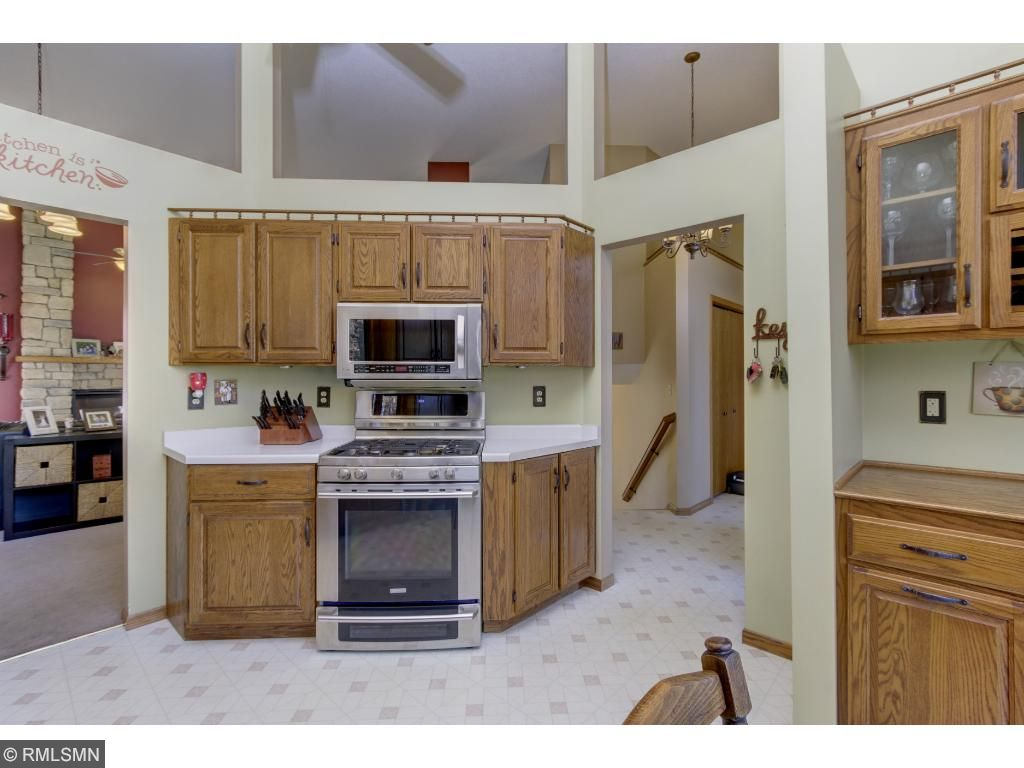 All new stainless steel appliances with open walls and vaulted ceilings.