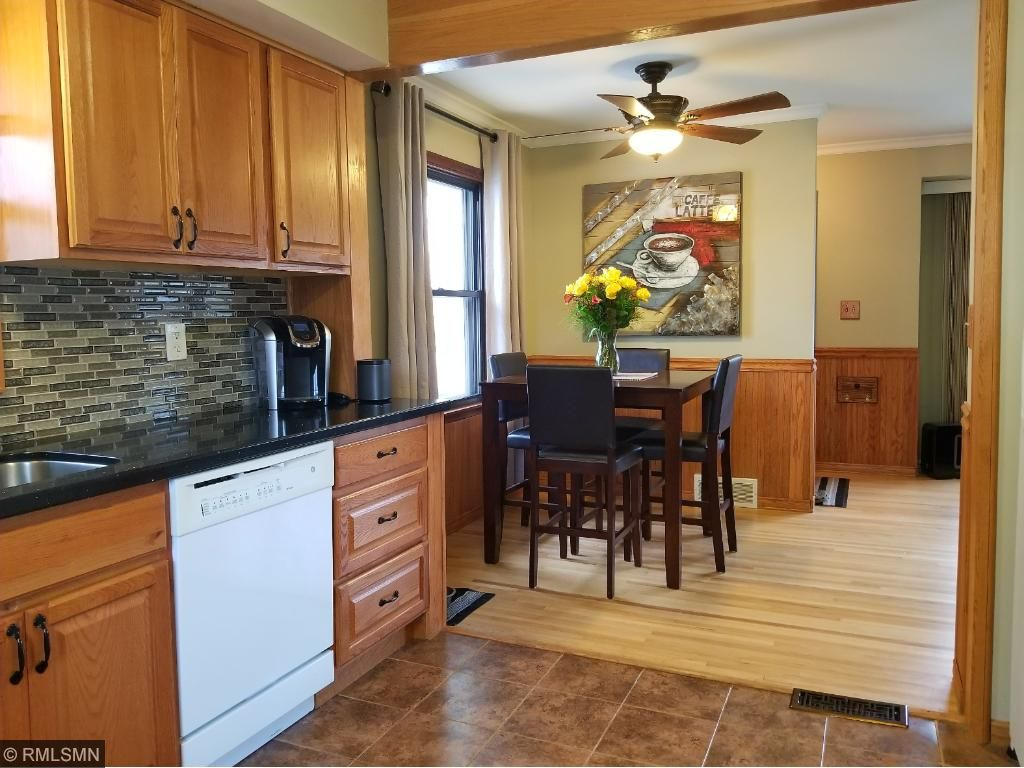 Beautiful Updated Large Kitchen With New Cabinets, Granite, Tile Backsplash  And Ceramic Tile.
