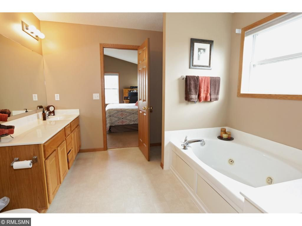 Master bath.  Separate shower and whirlpool tub.