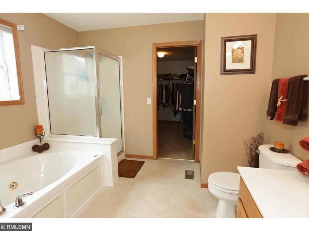 Walk in closet off of the master bath