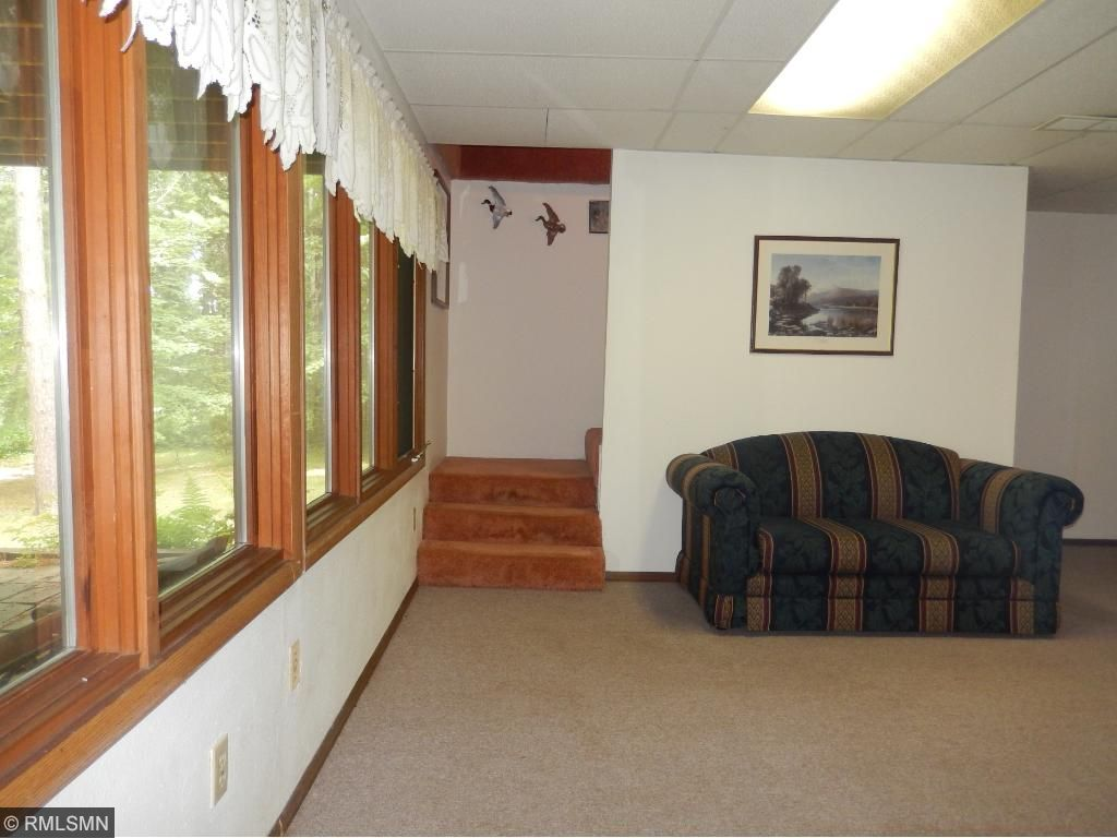 Lots of light in this lower level family room.
