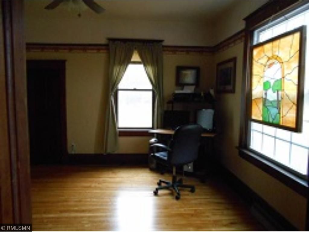 Main floor bedroom with spacious closet.  Could also be used for an office space!