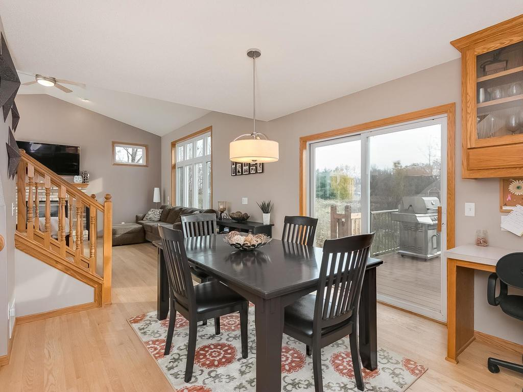 Open concept, kitchen open to dining and livingroom.  Great for entertaining.
