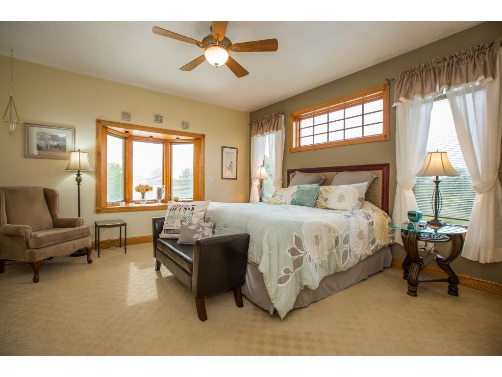 Master bedroom is on the main level with private bath and walk in closets.