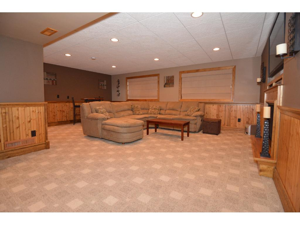 Basement level family room area.