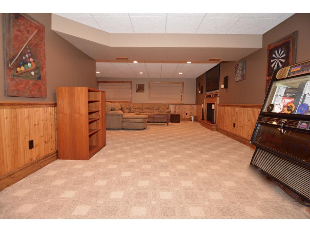 Basement level game room area.