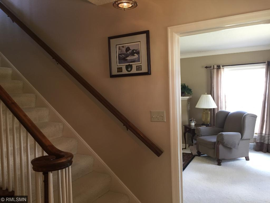 Grand entrance with awesome banister for sliding down.