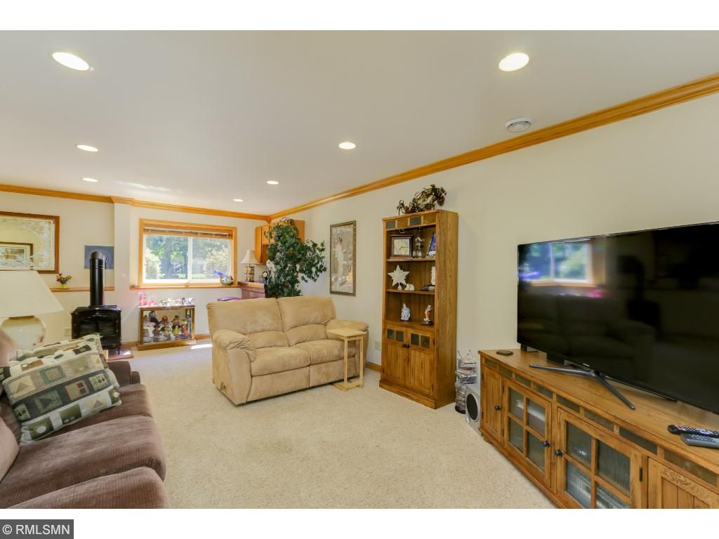 The lower level offers an extra family and entertainment area! Along with 3/4 bath on this level.