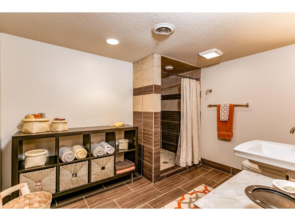 Awesome 3/4 Bath in the lower level