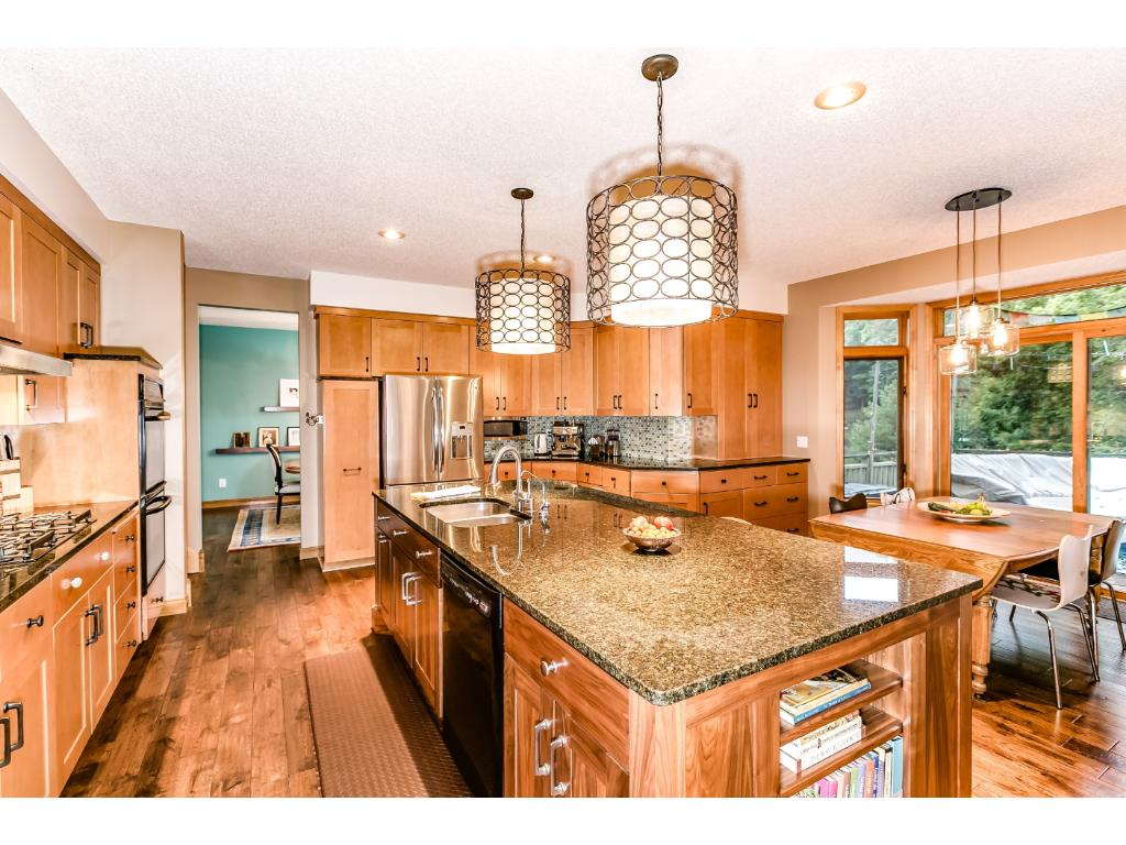 Beautiful granite counters, newer appliances, new cabinets and light fixtures.