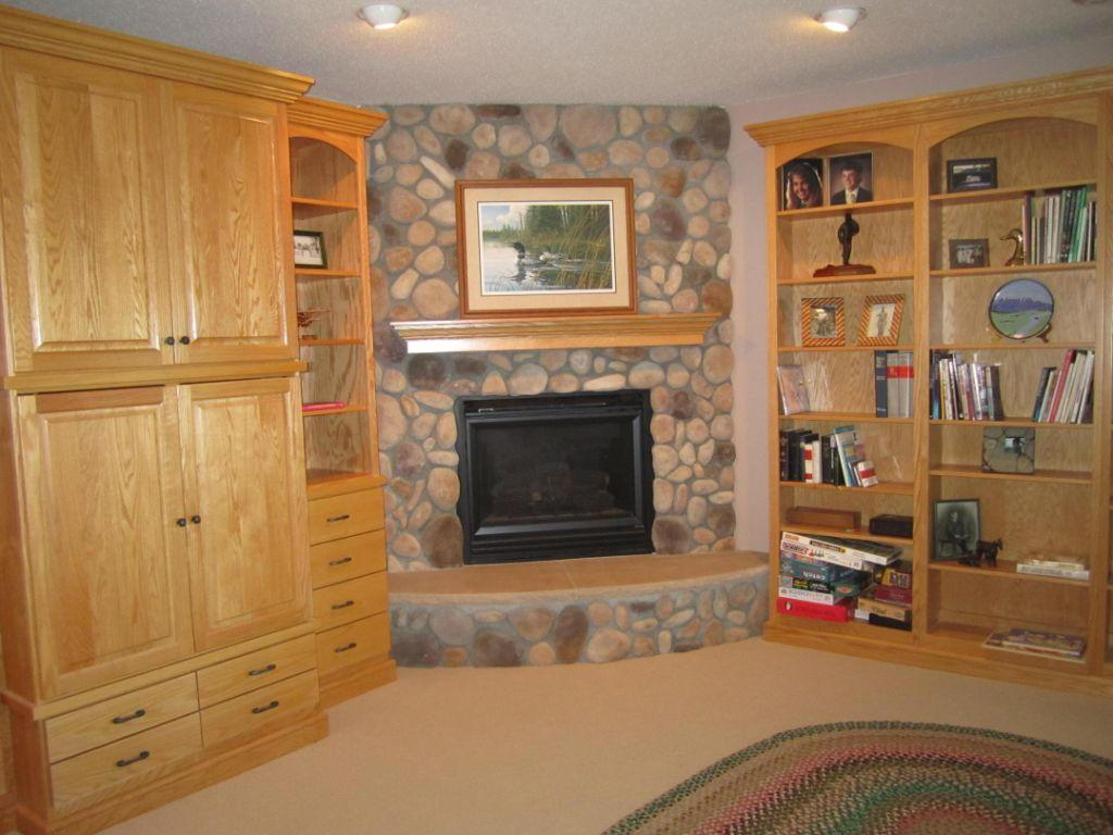 Fireplace in Lower Level