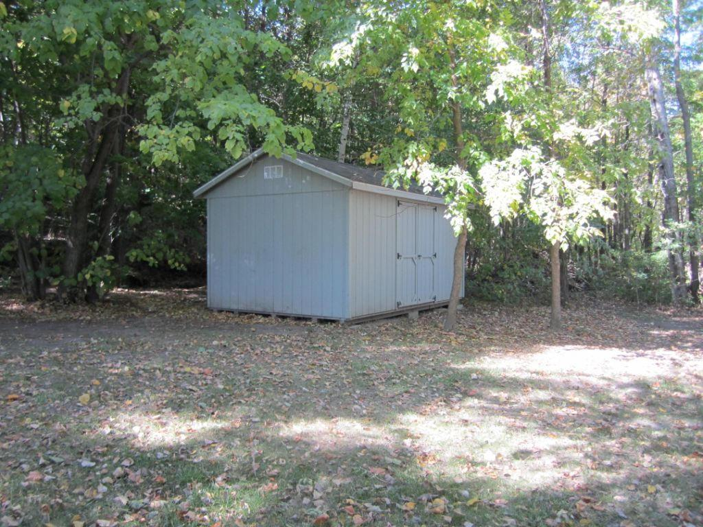 Shed lakeside for storage of lake toys