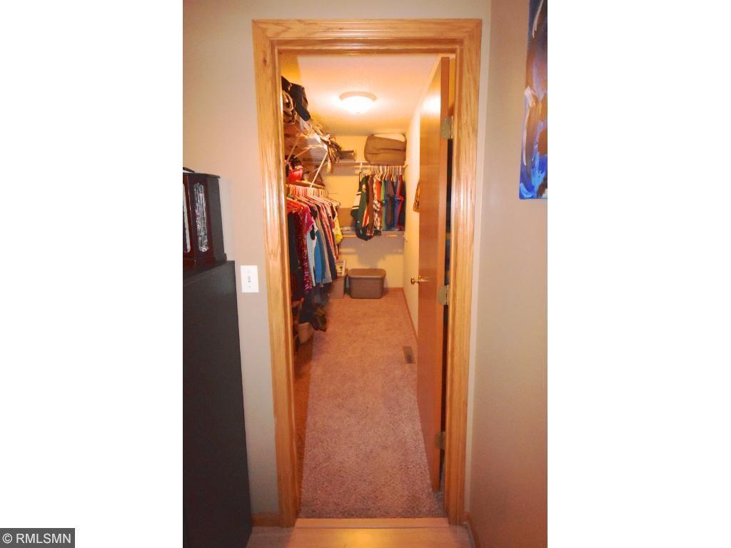 Large walk-in closet in master!