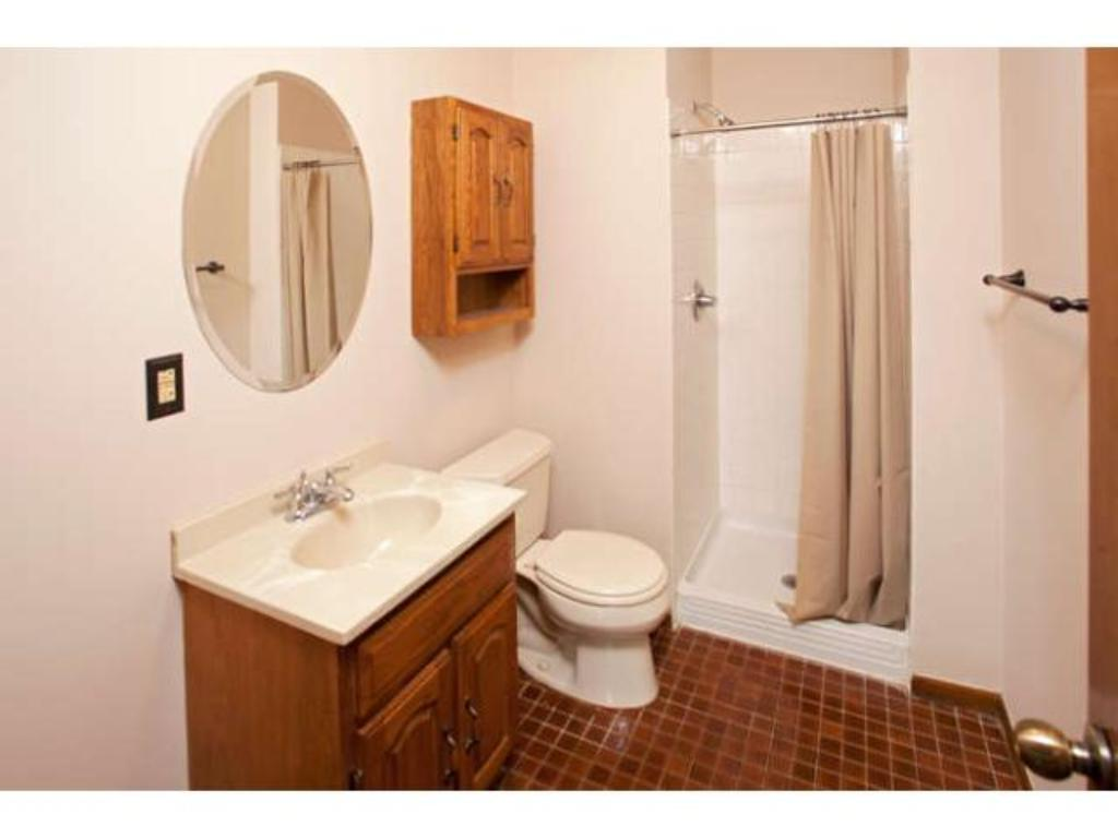 3/4 Bath in the lower level with the 4th Bedroom
