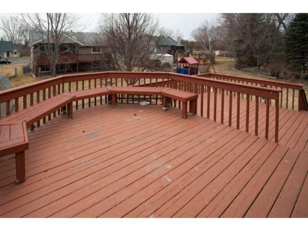 A spacious 2 tiered Deck is perfect for summer entertaining and grilling