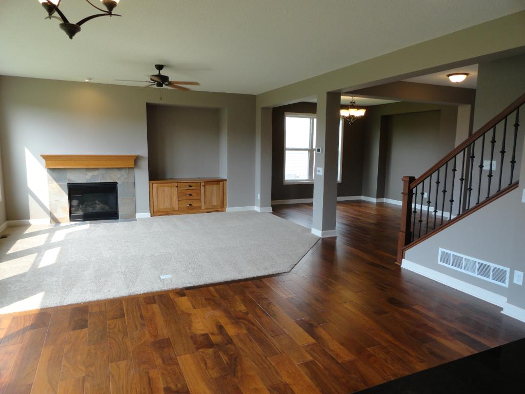 Family room and Dining room picture from a similar home