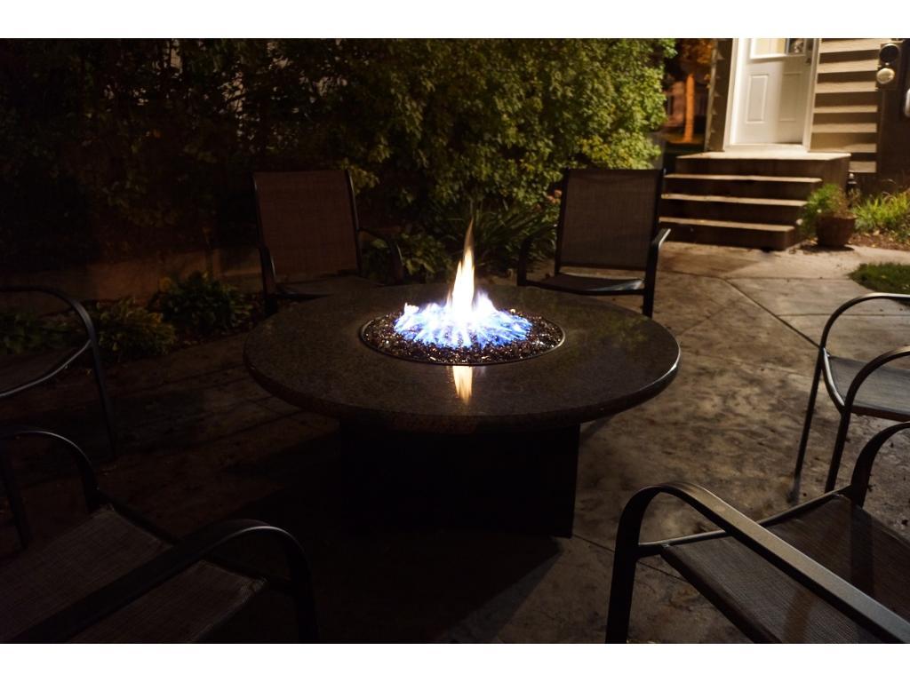 Evening Fire on Patio