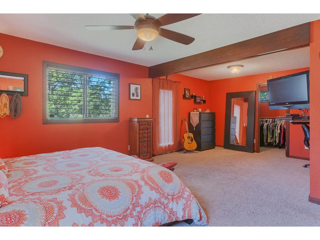 Huge walk in closet and room for a lounge area!