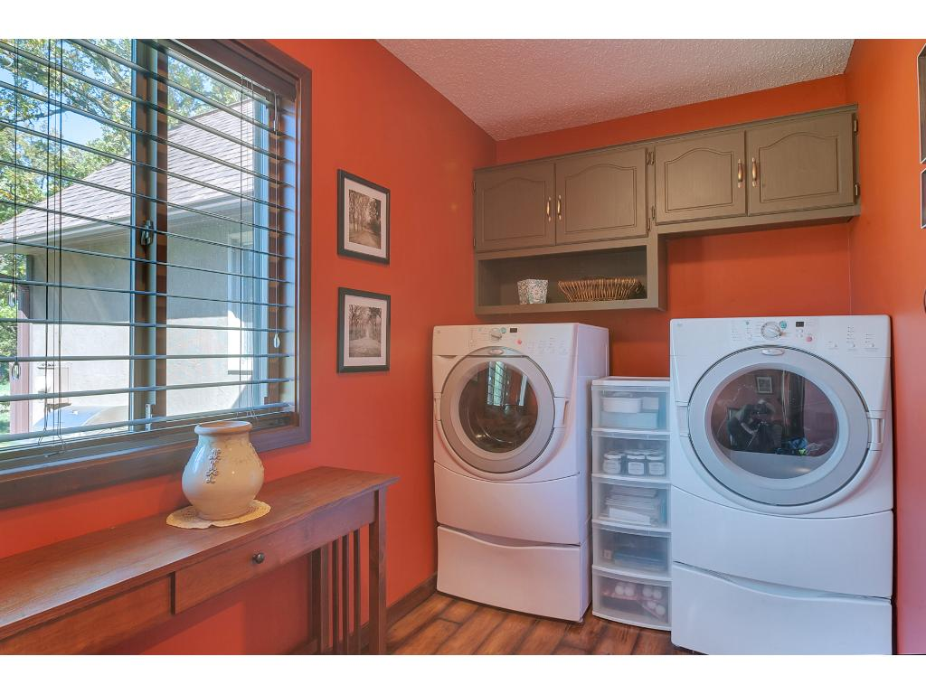 The main floor is completed with this laundry space, such a great amenity!