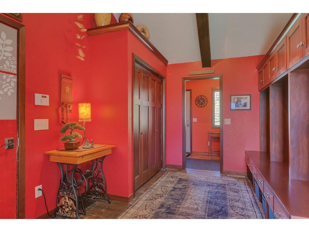 This beautiful entry way greets you at the front door and garage entrance!