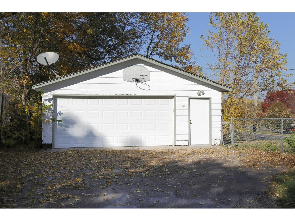 The home also features a 2 car detached garage.