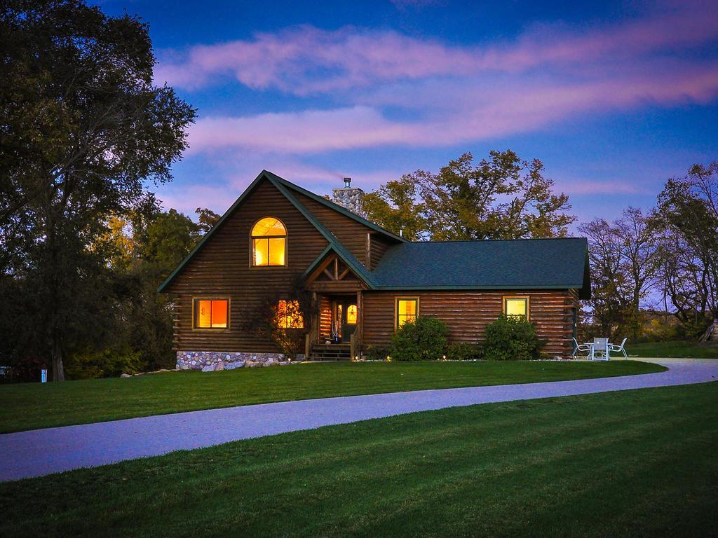 Welcome To Your Beautiful Lakefront Log Home   Stunning Lake Views,  Meticulous Landscaped Yard With